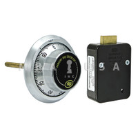 3-Wheel Lock Package w/ Front-Reading Dial & Ring, Satin Chrome