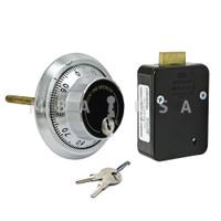 3-Wheel Lock Package w/ Front-Reading Dial & Ring, Key Locking, Satin Chrome