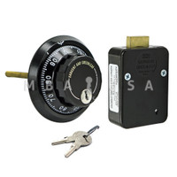 3-Wheel Lock Package w/ Front-Reading Dial & Ring, Key-Locking, Black & White