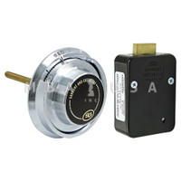 4-Wheel Lock Package w/ Spy Proof Dial & Ring, Satin Chrome