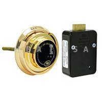 4-Wheel Lock Package w/ Spy Proof Dial & Ring, Brass