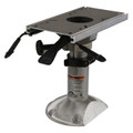 "Mainstay 2-7/8"" Power Rise Adjustable Pedestal w/Flat Side Floor Base"