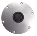 "Plug-In 9"" Diameter Silver Metallic Floor Base"