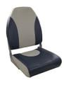 Premium Folding Seat Gray & Blue