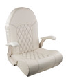 ROYAL SEAT OFF WHITE W/BLACK STITCHING