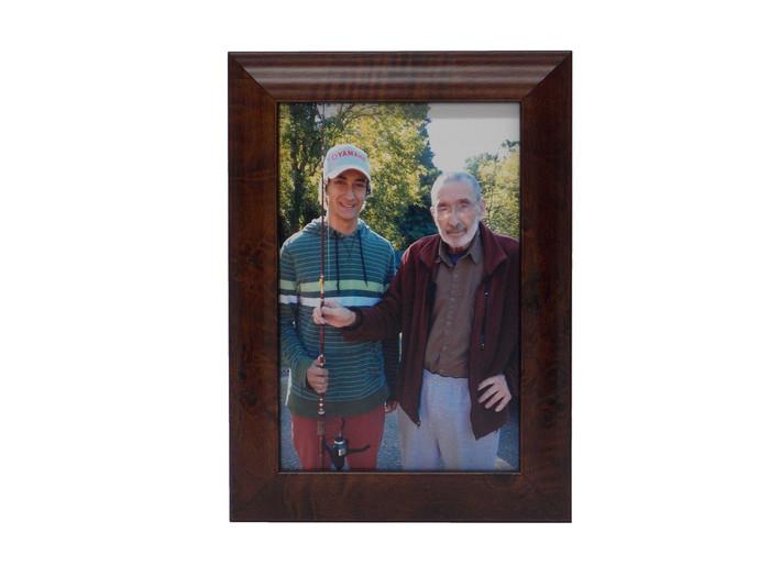 Walnut burl tabletop picture frame