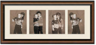 2-Toned Walnut frame for 3.5x5 pictures, Off White Mat -