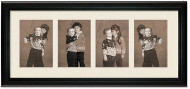 Deluxe Black Collage Frame with 4-4x5 Openings, Off White Mat