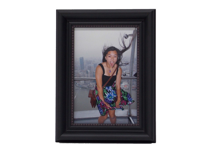 4x5 Arqadia Black Bead Tabletop Picture Frame