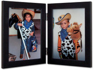 5x5 Black Double Hinge Picture Frame (5x7 frame displayed)