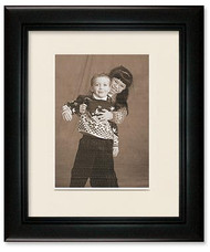 Deluxe Black Wall Frame - Single Mat for 8x10 Picture, Off White Mat