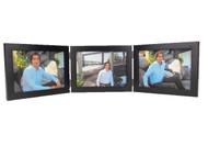 Black Finish 5x3.5 Triple Hinge Landscape Picture Frame