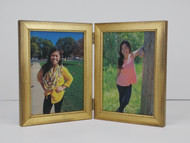Distressed Gold Double Hinge Picture Frame