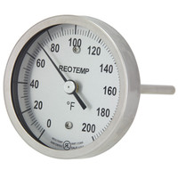 Back Connect Brewing Thermometer (Threaded & Sanitary)