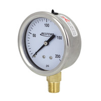 "2.5"" Brass Brewing Pressure Gauge"