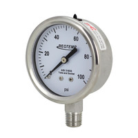 "2.5"" Stainless Steel Brewing Pressure Gauge"