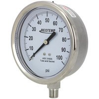 "4"" Stainless Steel Brewing Pressure Gauge"