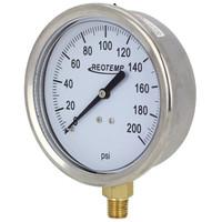 """4"""" Brass Brewing Pressure Gauge"""