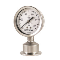 "2.5"" Dial Sanitary Pressure Gauge for Brewing"