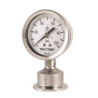 "2"" Dial Sanitary Pressure Gauge for Brewing"