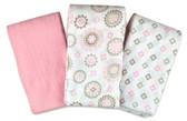 Summer Infant SwaddleMe Muslin Blankets, 3 pk, Floral Medallion