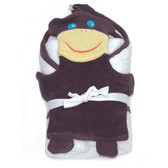 Under the Nile Organic Cotton Hooded Towel & Monkey Wash Cloth Set