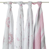 Aden + Anais For The Birds Classic Swaddles 4-Pack