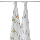 Aden + Anais Jungle Jam - Monkey + Giraffe Classic Swaddles 2-Pack