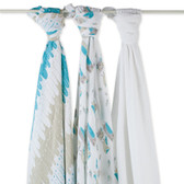 Aden + Anais Wise Guys Organic Swaddles 3-Pack