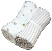 Under the Nile Organic Cotton Flannel Swaddling Blankets, 2 pk, Nature's Nursery