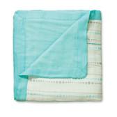 Aden + Anais Azure - Bead + Solid Aqua Bamboo Dream Blankets