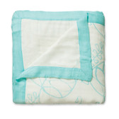 Aden + Anais Azure - Leafy + White Bamboo Dream Blankets