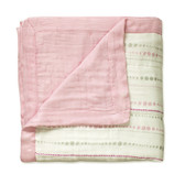 Aden + Anais Tranquility - Bead + Solid Rose Bamboo Dream Blankets