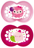 MAM Monster Orthodontic Silicone Pacifiers 6+ m, 2 pk, Girl