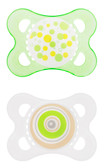 MAM Trends Orthodontic Silicone Pacifiers 0-6 m, 2 pk, Green