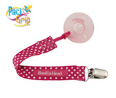 Booginhead PaciGrip Pacifier Holder, Pink Polka Dot