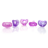 The First Years GumDrop Newborn Pacifier Canister Girl 5-Pack