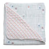 Bebe Au Lait Premium Muslin Snuggle Blanket, 1 pk, Little Owl/Tinsley
