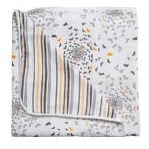Bebe Au Lait Premium Muslin Snuggle Blanket, 1 pk, Sparrow/Vintage Stripes