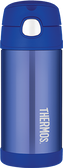 Thermos 12 oz Funtainer Insulated Stainless Steel Straw Bottle, Blue
