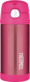 Thermos 12 oz Funtainer Insulated Stainless Steel Straw Bottle, Pink