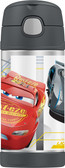Thermos 12 oz Funtainer Insulated Stainless Steel Straw Bottle, Cars 3