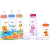 Evenflo Feeding Zoo Friends 8oz 3-Pack Bottle with Anatomic Nipple