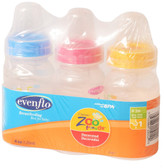 Evenflo Feeding Zoo Friends 4oz 3-Pack Bottle with Standard Nipple