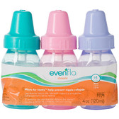 Evenflo Feeding Classic Tinted PP Bottle 4 oz 3 pk