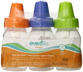 Evenflo Feeding Classic Clear PP Bottle 4oz 3-Pack