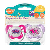 Ulubulu Wow & THX Pacifiers 0-6M (Girl)