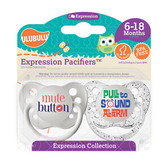 Ulubulu Mute Button & Pull to Sound Alarm Pacifiers 6-18M (Unisex)