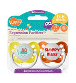 Ulubulu No Hablo & Sloppy Kisser Pacifiers 0-6M (Unisex)