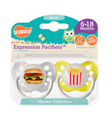 Ulubulu Burger & Fries Pacifiers 6-18M (Boy)